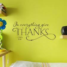 Everything Give Thanks Christian Jesus Quotes Wall Stickers Home Decor Living Room Art Vinyl Wall Decal Wall Stickers Aliexpress