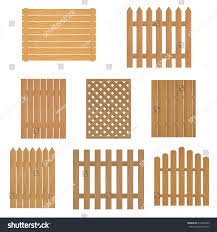 Different Types Wooden Fence Fence Wood Stock Vector Royalty Free 619452503