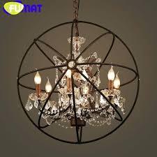 crystal globe pendant light crystal