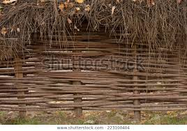Woven Willow Wicker Fence Panel Suitable Stock Photo Edit Now 223100404