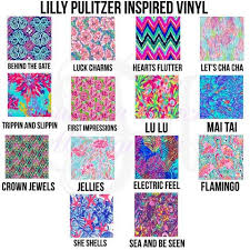 Monogrammed Lilly Pulitzer Inspired Vinyl Decal Southern Touch Monograms