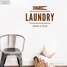 Stizzy Wall Decal Laundry Launderette Vinyl Wall Sticker Dry Cleaning Sign Window Decor Removable Interior Modern Design Diy B24 Wall Stickers Aliexpress
