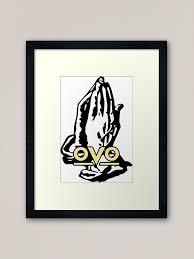 6 God Ovo Drake Sticker Framed Art Print By Zatchdesigns Redbubble