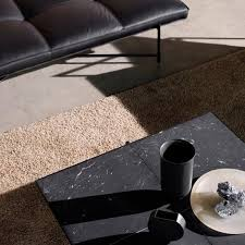 large black marble coffee table with