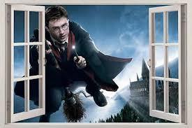 Harry Potter Hogwarts 3d Window View Decal Graphic Wall Sticker Art Mural H318 Ebay