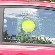 Buy 3d Hit Window Car Decal Sticker Tennis Ball Window Decoration Funny 3d Sticker Self Adhesive Decal In Cheap Price On Alibaba Com