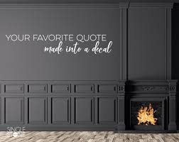 Custom Wall Decal Quote Create Your Own Wall Words Home Etsy