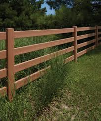 Bufftech 4 Rail Post Rail Certagrain Texture Vinyl Fence Liw Rail And Fence Llc