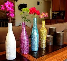 empty wine bottle decoration ideas