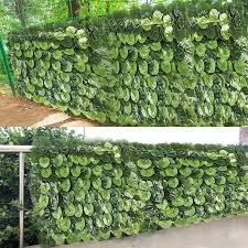 40x60cm Artificial Leaf Hedge Panel Privacy Fence Screen Artificial Garden Plant Fence Home Decor Greenery Background Walls Fencing Trellis Gates Aliexpress