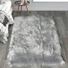 haocoo faux fur sheepskin rug soft