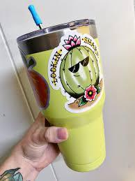 Cactus Sticker Pack Malerie Art