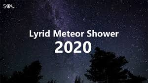 Look up for the Lyrid meteor shower ...