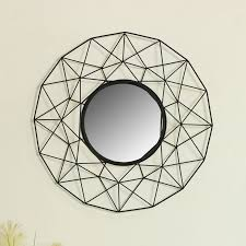 large round black metal wire wall