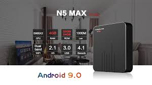 magicsee n5 max s905x2 android 9.1 4+32GB tv box best price ...