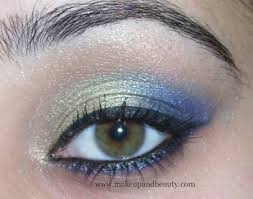 indian wedding golden blue eye makeup