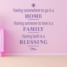 Having Both Home Family Is A Blessing Wall Decal Quote Style And Apply