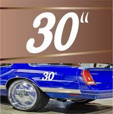 30 Inch Rim Dub Decal Badge Number Popular Vinyl Decals Topchoicedecals