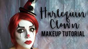 harlequin clown makeup tutorial