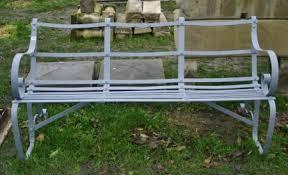 antique iron garden bench new england