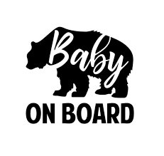 Baby On Board Bear Sticker Decal Baby On Board Store