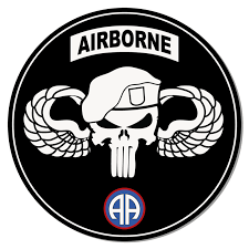 82nd Airborne Punisher Wings Roundel Airborne Stickers
