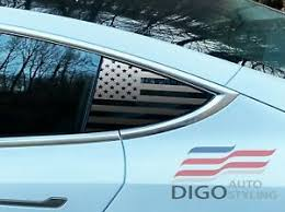 Tesla Model 3 Quarter Window Protector American Flag Decal Sticker Matte Black Ebay