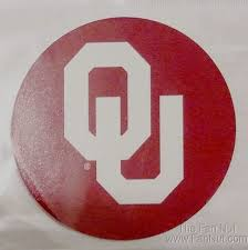 Oklahoma Sooners Decal Rr 4 Round Vinyl Auto Home Window Glass University Of For Sale Online