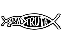 Christian Truth Eating Darwin Fish Shaped Sticker Jesus Etsy