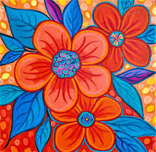 Blue And Orange 1 Painting by Peggy Davis