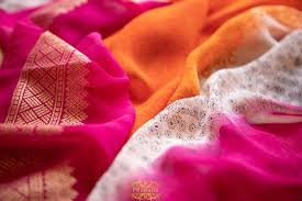Image result for georgette saree close up
