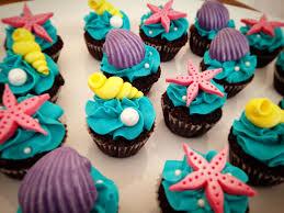 Little Mermaid Mini Cupcakes Cupcakes Sirenita Cumpleanos De Sirena Mini Cupcakes De