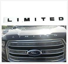1x Matte Black Limited Letters Hood Emblem For Ford F 150 F 250 F 350 Badge Oems Ebay