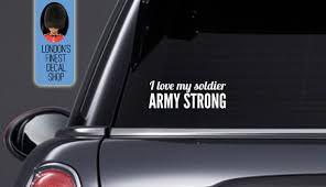 I Love My Soldier Army Strong Car Vinyl Decal Etsy