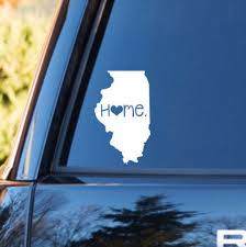 Illinois Home Decal Illinios State Decal Homestate Decals Love Sticker Love Decal Car Decal Car S Personalized Vinyl Decal Car Stickers Car Decals