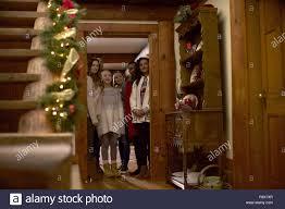 CHRISTMAS ON HOLLY LANE, from left: Gina Holden, Giles Panton, Ava Telek,  Taylor Dianne Robinson, Jaime M. Callica, Karen Holness, 2018. © UPtv /  courtesy Everett Collection Stock Photo - Alamy