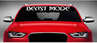 Amazon Com Noizy Graphics 40 X 4 Beast Mode 4x4 Lifted Truck Windshield Sticker Car Window Vinyl Decal Color White Automotive