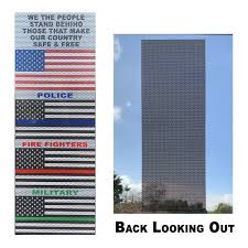 Thin Line Flag Set Perforated Window Decals Usa Thin Blue Thin Red Vista Flags