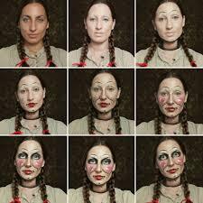 annabelle makeup transformation step