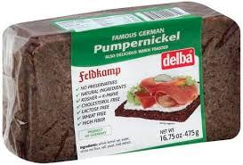 delba pumpernickel bread 16 75 oz