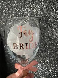 Personalised Wine Glass Size Transfers Decal Wedding Hen Do Bridal Bride Do It Your Self Diy Champagne Wine Glass Vinyl Sticker Rose Gold