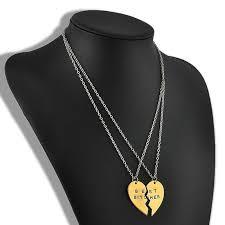 letter splice pendant necklace fashion