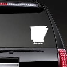 Arkansas Car Decal Home Sticker White Vinyl Decals