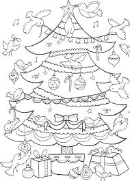 Kerstboom Kleurplaat Kerstmis Kerst Christmas Coloring Colouring