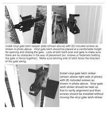 Vinyl Fence Double Gate Hardware Kit Vinyl Gate Hinges Vinyl Gate Latch Vinyl Gate Drop Rod White Vinyl Gate Hardware Kit