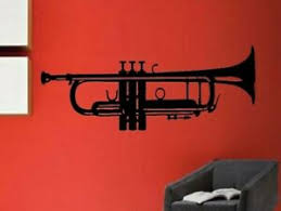 Jazz Trumpet Brass Music Musical Instrument Vinyl Wall Sticker Decal Ebay