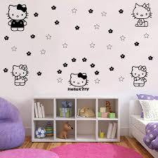 Hello Kitty Wallpaper Red Wall Sticker Decor Decals Walmart Design Black Clock For Laptop Vamosrayos