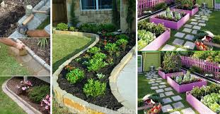 20 awesome ideas for garden edges that
