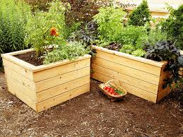 self watering timber garden planter