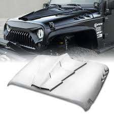 Xprite T Rex Fiberglass Hood With Open Scoop For 2007 2018 Jeep Wrangler Jk Walmart Com Walmart Com